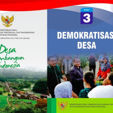 """Buku Saku """"DEMOKRATISASI DESA""""."""