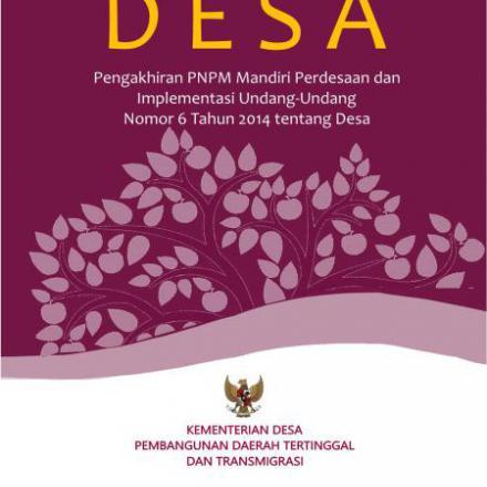 Modul TOT Panduan Pelatih Pendampingan Desa Kemendesa PDTT